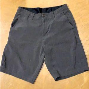 VOLCOM men's dark grey hybrid board shorts